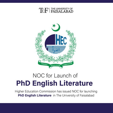 NOC for Launch of PhD English Literature