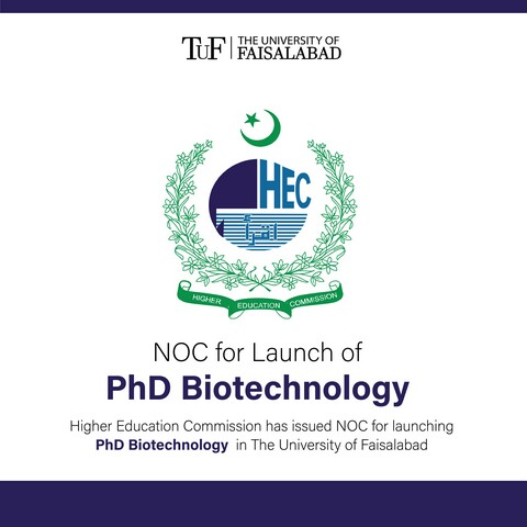 NOC for Launch of PhD Biotechnology